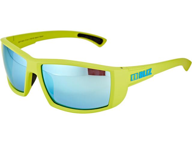 Bliz Drift Glasses matte lime green/smoke/blue multi